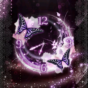 Nighttime Roses clockWidget