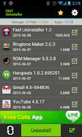 Screenshot of Fast Uninstaller
