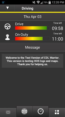Screenshots for CDL Warrior HOS Log