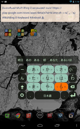 Japanese keyboard plugin