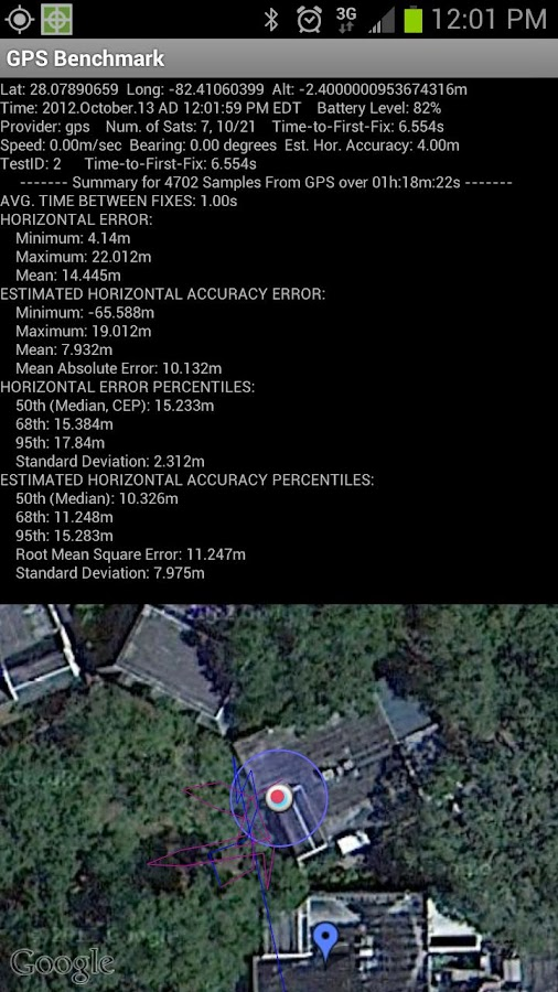 GPS Benchmark- screenshot