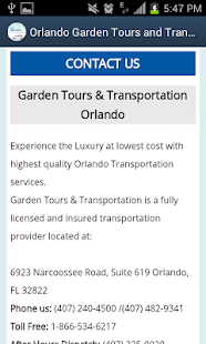 Garden Tours & Transportation- screenshot thumbnail