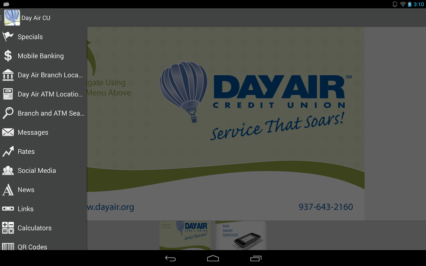 Day Air Credit Union- screenshot