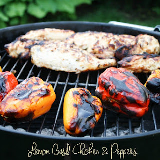 Grilled Lemon Basil Chicken & Peppers Recipe