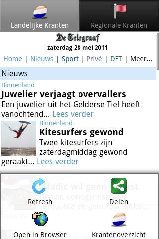 Kranten NL  (Nederland nieuws)- screenshot