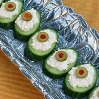 Cucumber Rounds Appetizers Recipes.