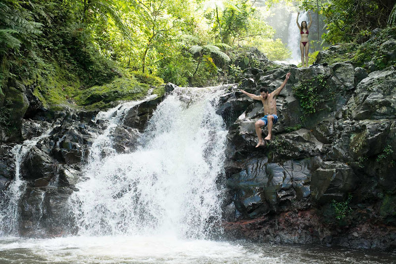 Come to Fiji and race a waterfall.