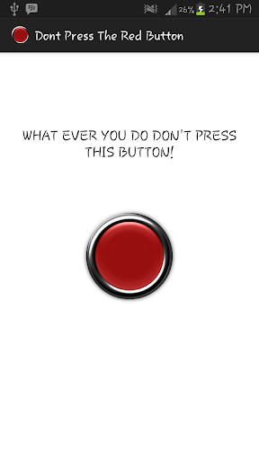 Don't Press The Red Button