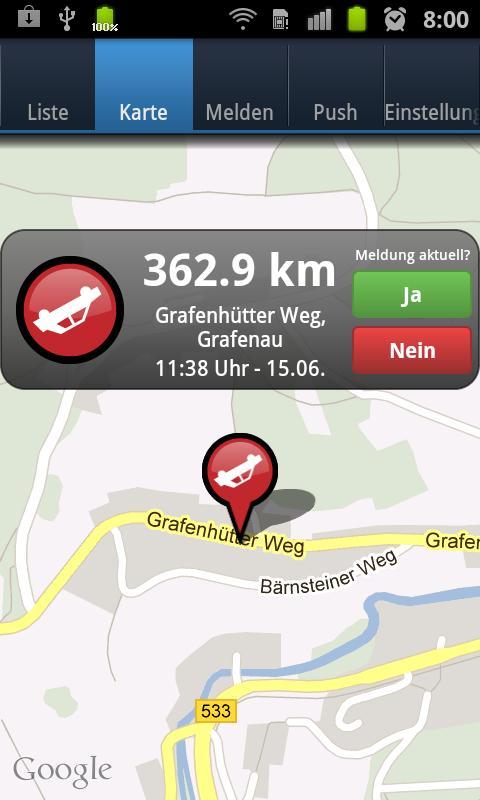 VerkehrsApp- screenshot