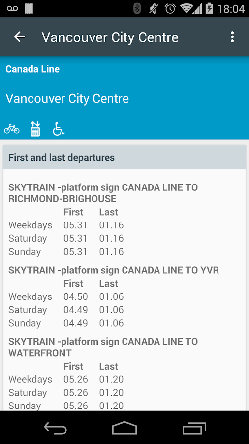 TransitDB Vancouver - screenshot
