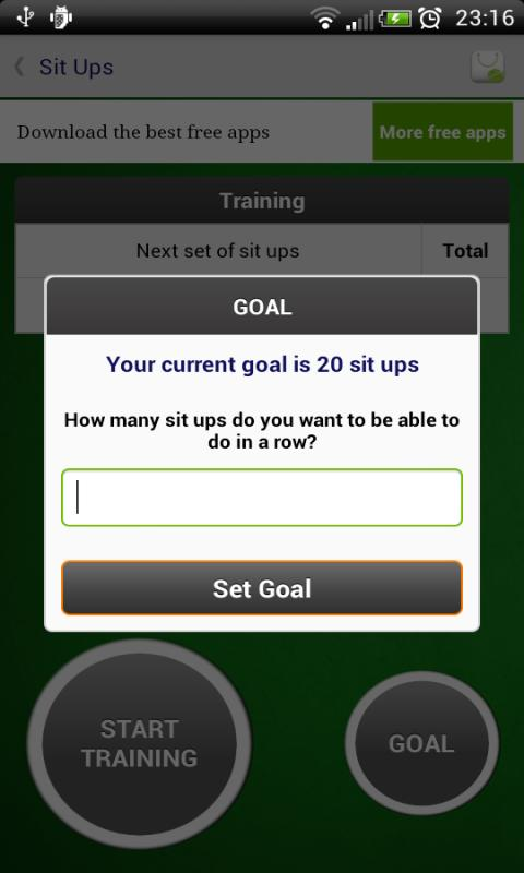 Sit Ups - Fitness Trainer- screenshot