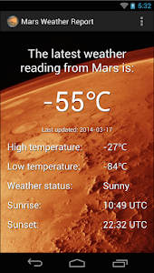 Mars Weather Report screenshot 4