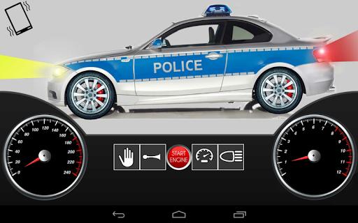 幼児の子供の車のおもちゃ警察