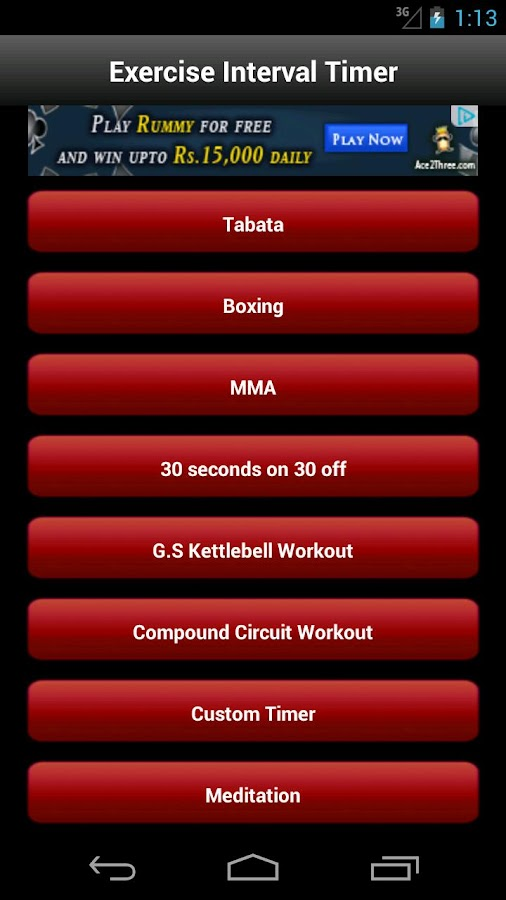 Tabata Exercise Interval Timer - screenshot