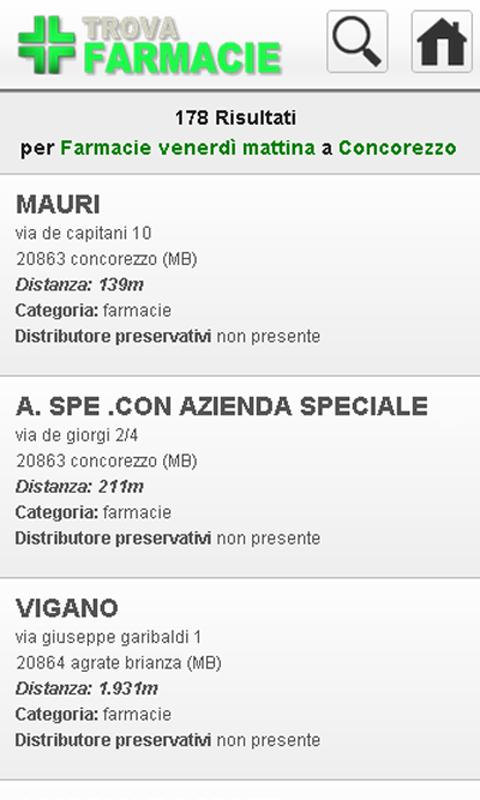 Trova Farmacie- screenshot