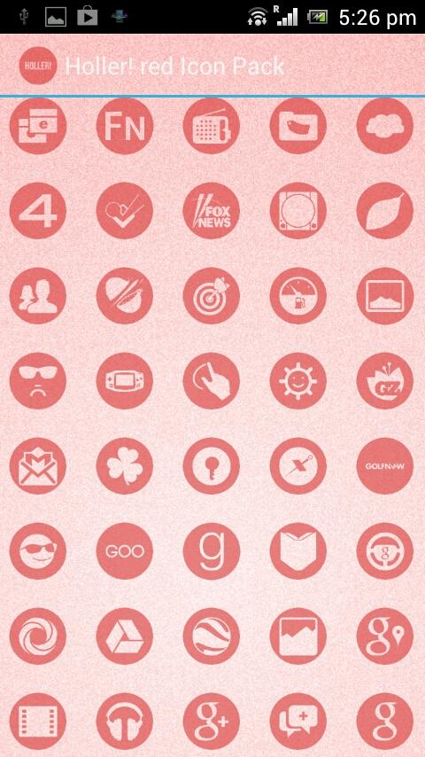 Holler! red Icon Pack - screenshot