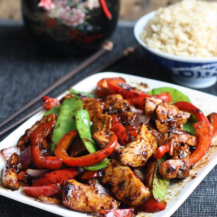 Stir-Fried Chicken with Chinese Garlic Sauce Recipe