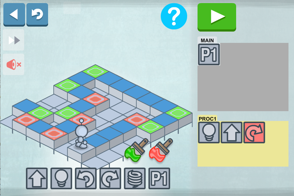 Lightbot - Programming Puzzles- screenshot