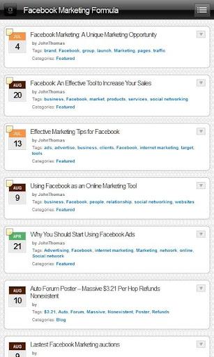 Facebook Marketing Formula