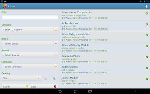 Joooid! Joomla for Android - screenshot thumbnail