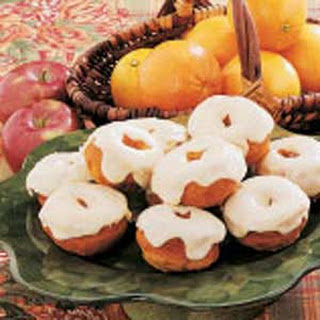 Frosted Pumpkin Doughnuts