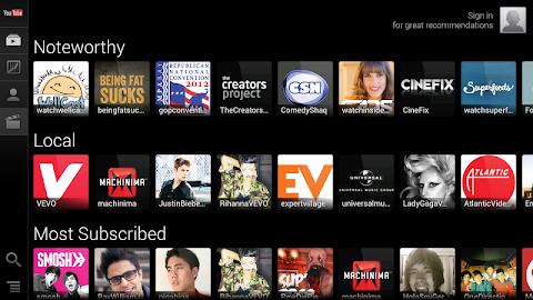 YouTube for Google TV Screenshot 6