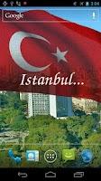 Screenshot of 3D Turkey Flag Live Wallpaper