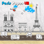Paris Paper Town LiveWallpaper