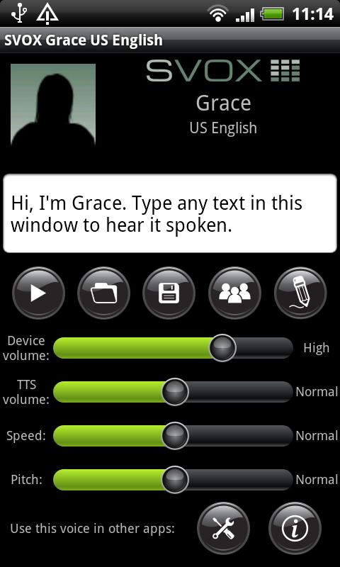 SVOX US English Grace Trial - screenshot