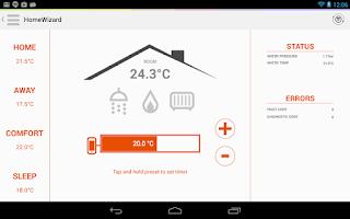 Screenshot of HomeWizard