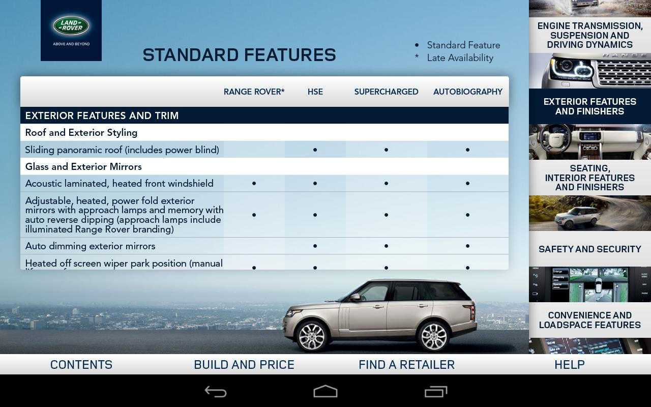 2013 Range Rover Spec Guide - screenshot