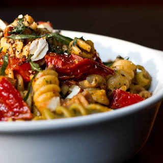 Roasted Tomato Basil Pesto Pasta.