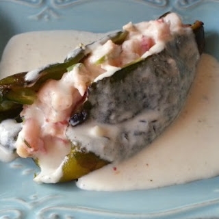 Shrimp Stuffed Poblano Peppers