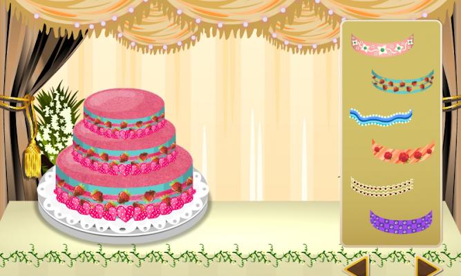 wedding cake maker - girl game - screenshot