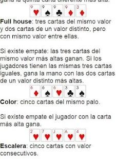 Escala de valores del poker texas
