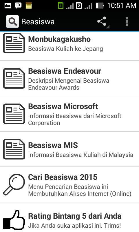 Cari Beasiswa Find Scholarship Screenshot