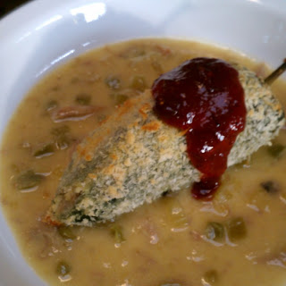 Thanksgiving Chili Rellenos With Chipotle Cranberry Sauce.