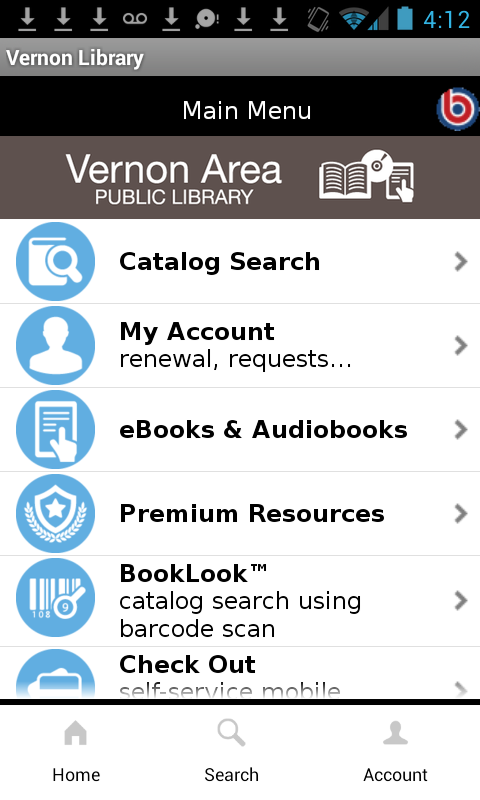 Vernon Area Public Library- screenshot