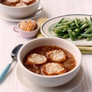 French Onion Soup with Cheese Toasts.