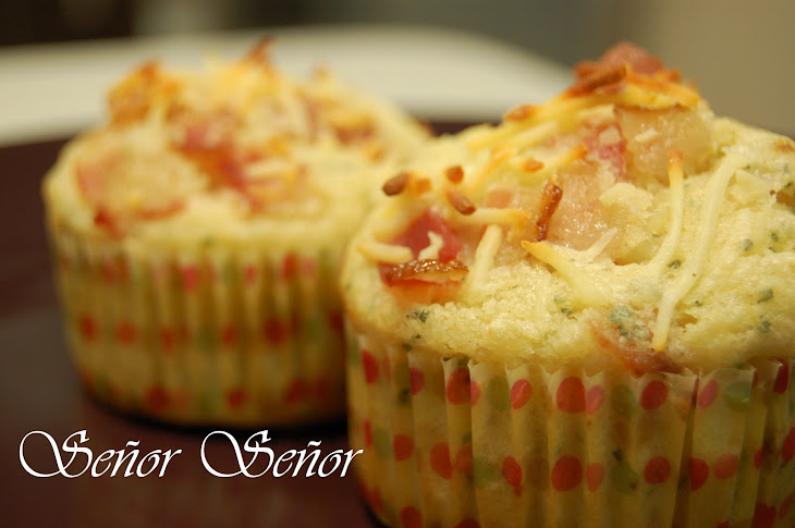 Bacon, Cheese, and Oregano Muffins