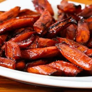 Roasted Carrots with Agave-Balsamic Glaze.
