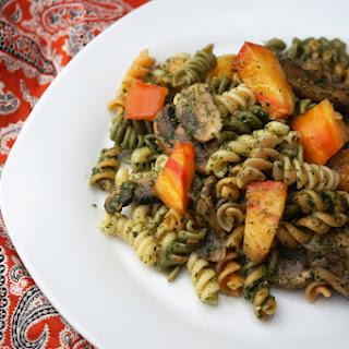 Tomato Mushroom Pesto Pasta