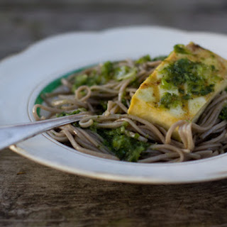 Grilled Tofu and Soba Noodles.