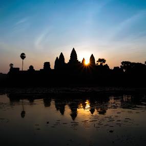 Sunrisen at Angkor Wat by ChenLin Kng - Landscapes Sunsets & Sunrises