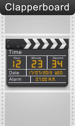 Clapperboard - Clock Widget