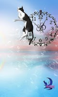 Screenshot of Cute BL&WH Cat-Live Wallpaper