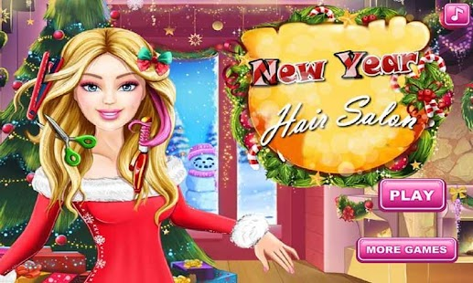 New Year Hair Salon Girl Salon