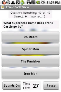 Comic Book Trivia - screenshot thumbnail