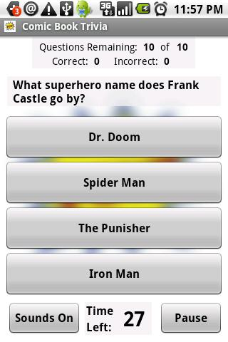 Comic Book Trivia - screenshot