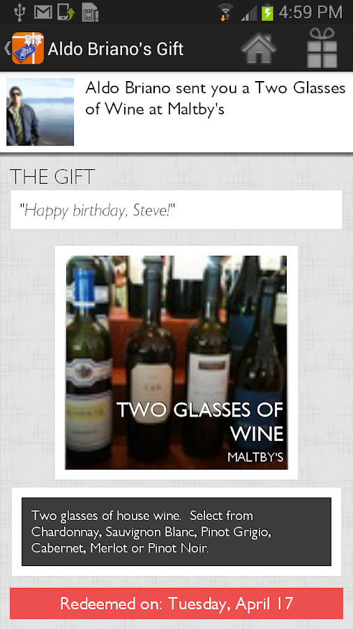 Yiftee - Local Gifts On-the-Go - screenshot